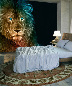Fotobehang - Abstract lion-1