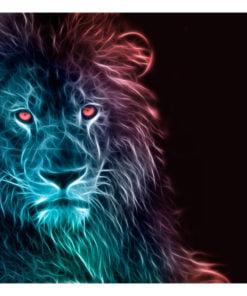 Fotobehang - Abstract lion - rainbow-2