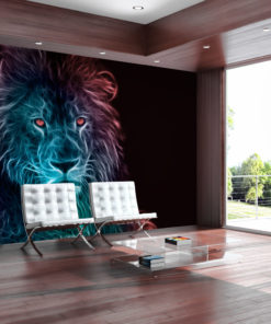 Fotobehang - Abstract lion - rainbow-1