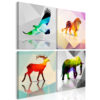 Schilderij - Colourful Animals (4 Parts)-1