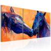 Schilderij - Blue Horses-1
