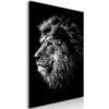 Schilderij - Blue-eyed Lion (1 Part) Vertical-1