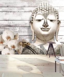 Fotobehang - Smiling Buddha-1