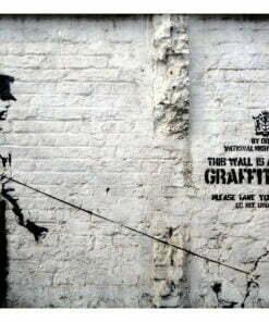 Fotobehang - Banksy - Graffiti Area-2