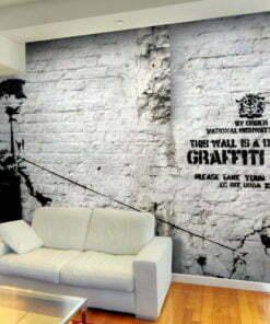 Fotobehang - Banksy - Graffiti Area-1