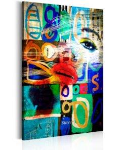 Schilderij - Kiss of Modernity-1