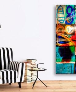 Schilderij - Kiss of Modernity-2