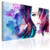 Schilderij - Watercolor Girl-1