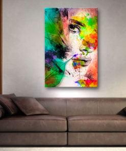 Schilderij - Colors of Feminity-2