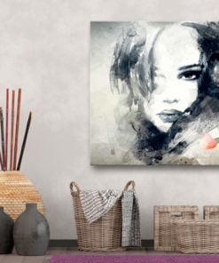 Schilderij - Mysterious Look-2