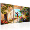 Schilderij - Summer in Italy-1