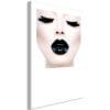 Schilderij - Black Lips (1 Part) Vertical-1