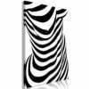 Schilderij - Zebra Woman (1 Part) Vertical-1