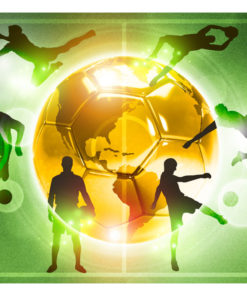 Fotobehang - Football training-2