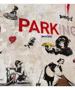 Fotobehang - [Banksy] Graffiti Collage-2