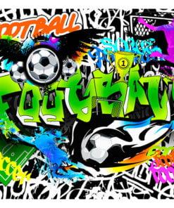 Fotobehang - Football Graffiti-2