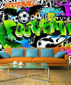 Fotobehang - Football Graffiti-1