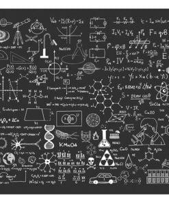 Fotobehang - Science on Chalkboard-2