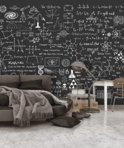 Fotobehang - Science on Chalkboard-1