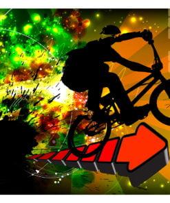 Fotobehang - Bicycle Tricks-2