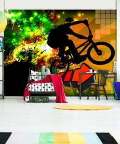 Fotobehang - Bicycle Tricks-1