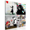 Schilderij - Banksy Collage (4 Parts)-1