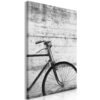 Schilderij - Bicycle And Concrete (1 Part) Vertical-1