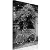 Schilderij - Bicycle and Flowers (1 Part) Vertical-1