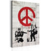 Schilderij - Soldiers Painting Peace by Banksy-1