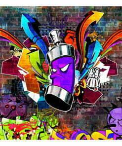 Fotobehang - Graffiti: Colourful attack-2
