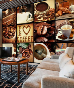 Fotobehang - Coffee - Collage-1