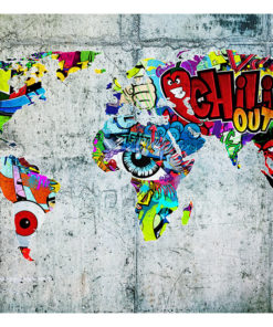 Fotobehang - Map - Graffiti-2