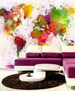 Fotobehang - Dyed World-1