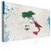 Schilderij - Map: Italy-1