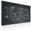 Schilderij - World Map: Travel broadens the Mind-1