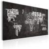 Schilderij - World Map: Mundo Negro-1