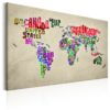 Schilderij - World Map: World Tour (EN)-1