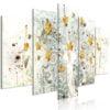 Schilderij - Autumn Leaves (5 Parts) Wide-1