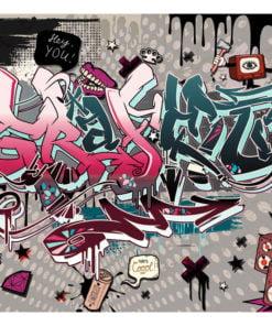 Fotobehang - Graffiti: hey You!-2