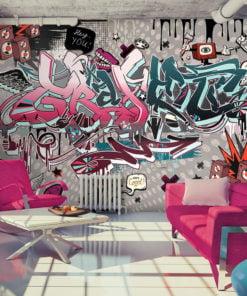Fotobehang - Graffiti: hey You!-1