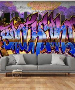 Fotobehang - Colorful Mural-1