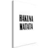 Schilderij - Hakuna Matata (1 Part) Vertical-1