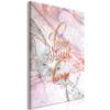 Schilderij - Home Sweet Home (1 Part) Vertical-1