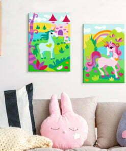Doe-het-zelf op canvas schilderen - Fairytale Unicorns-2