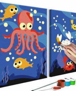 Doe-het-zelf op canvas schilderen - Ocean Animals-1