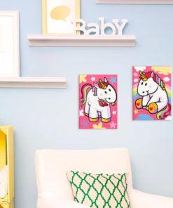 Doe-het-zelf op canvas schilderen - Unicorns-2