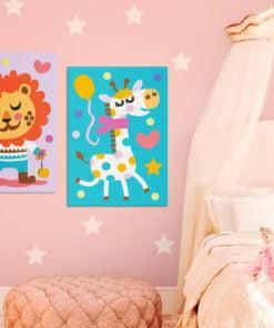 Doe-het-zelf op canvas schilderen - Lion & Giraffe-2
