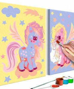 Doe-het-zelf op canvas schilderen - Magical Unicorns-1