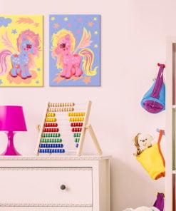 Doe-het-zelf op canvas schilderen - Magical Unicorns-2