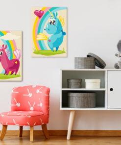 Doe-het-zelf op canvas schilderen - Sweet Unicorns-2